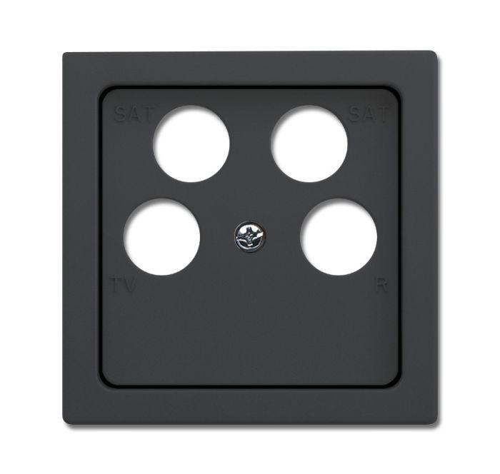 busch jaeger 1743 10 04 81 abdeckung f r 4 fach antennensteckdose anthrazit online kaufen im. Black Bedroom Furniture Sets. Home Design Ideas