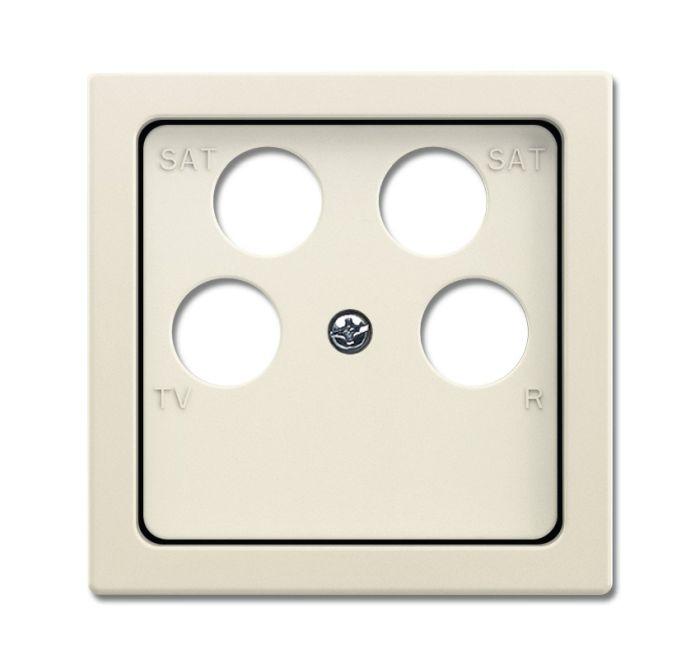 busch jaeger 1743 10 04 82 abdeckung f r 4 fach antennensteckdose elfenbeinwei online kaufen im. Black Bedroom Furniture Sets. Home Design Ideas