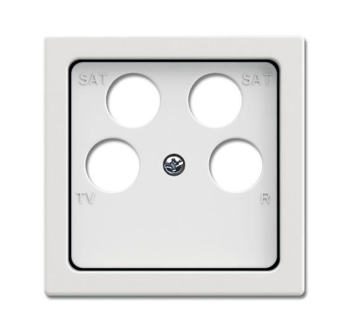 busch jaeger 1743 10 04 884 abdeckung f r 4 fach antennensteckdose studiowei matt online kaufen. Black Bedroom Furniture Sets. Home Design Ideas