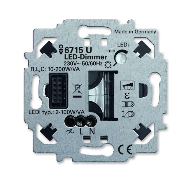 busch jaeger 6715 u led dimmer einsatz zigbee light link online kaufen im voltus elektro shop. Black Bedroom Furniture Sets. Home Design Ideas
