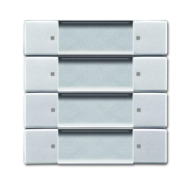 busch jaeger 6737 01 83 wandsender zigbee light link 4 kanal alusilber online kaufen im voltus. Black Bedroom Furniture Sets. Home Design Ideas