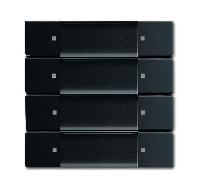 busch jaeger 6737 885 bedienelement zigbee light link 4 fach schwarz matt online kaufen im. Black Bedroom Furniture Sets. Home Design Ideas