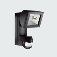 esylux af150 200i halogenstrahler 150 watt mit integriertem bewegungsmelder schwarz online. Black Bedroom Furniture Sets. Home Design Ideas