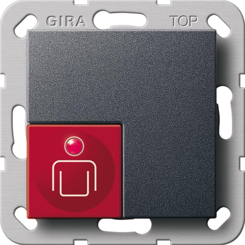 gira 290028 ruftaster system 55 anthrazit anthrazit online. Black Bedroom Furniture Sets. Home Design Ideas