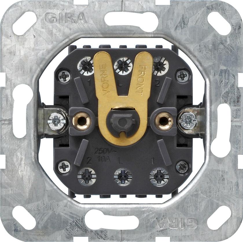 GIRA 015700 Einsatz Jalousietaster bzw. -schalter 10 AX 250 V~ 2 ...