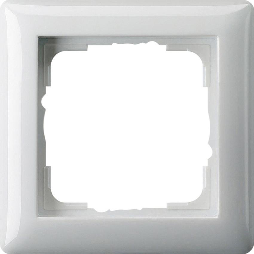 gira 021103 abdeckrahmen standard 55 reinwei gl nzend 1. Black Bedroom Furniture Sets. Home Design Ideas