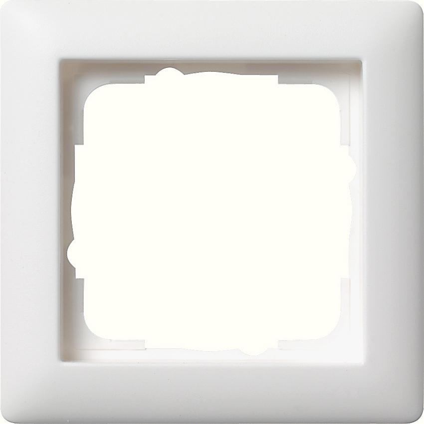 gira 021104 abdeckrahmen standard 55 reinwei seidenmatt 1. Black Bedroom Furniture Sets. Home Design Ideas