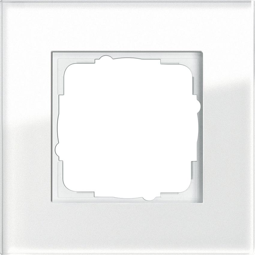gira 021112 esprit abdeckrahmen wei glas 1 fach online. Black Bedroom Furniture Sets. Home Design Ideas