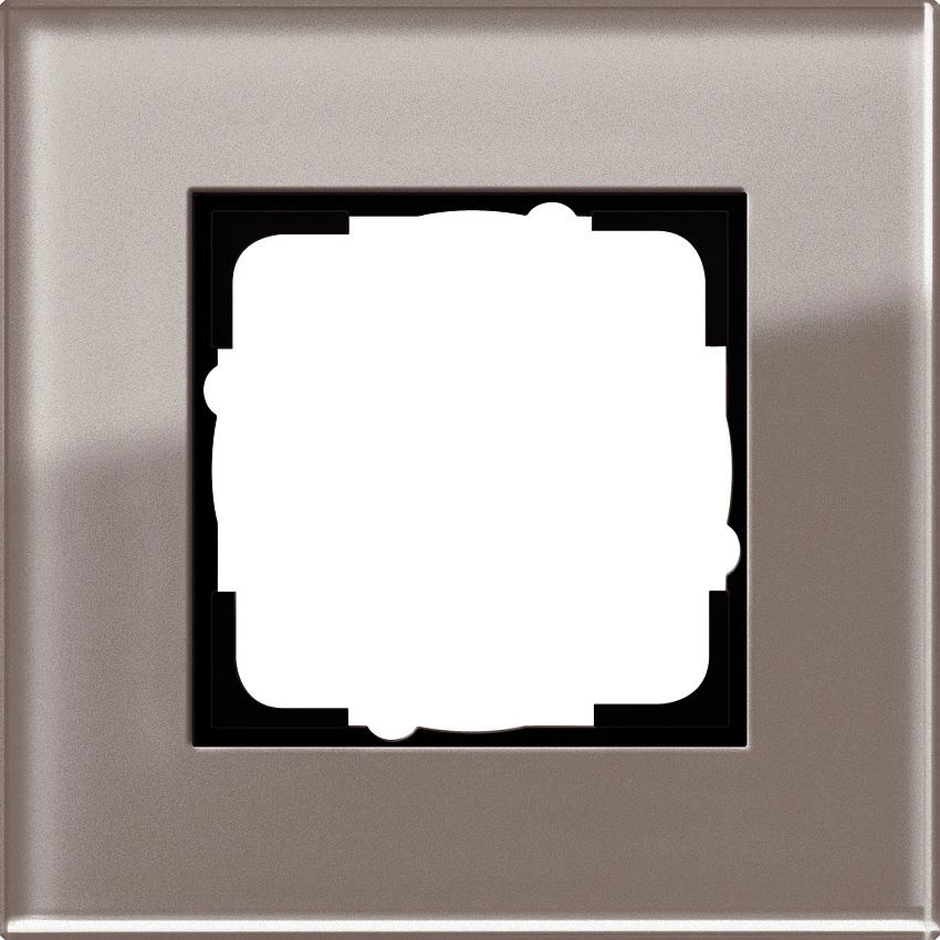 gira 0211122 esprit abdeckrahmen glas umbra 1 fach online. Black Bedroom Furniture Sets. Home Design Ideas