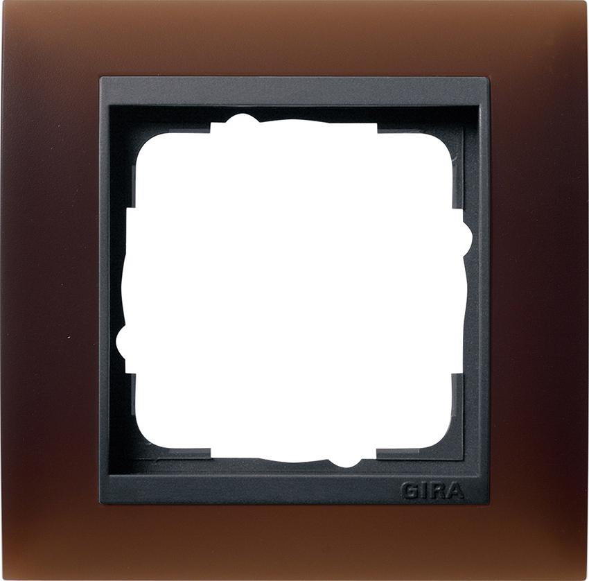 gira 021113 abdeckrahmen event opak dunkelbraun 1fach online kaufen im voltus elektro shop. Black Bedroom Furniture Sets. Home Design Ideas