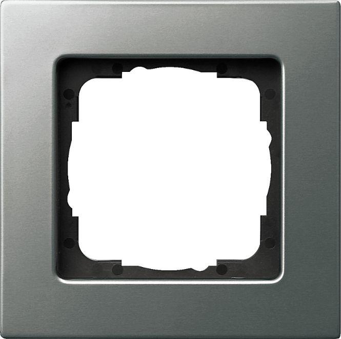 gira 0211202 e22 abdeckrahmen edelstahl 1 fach online. Black Bedroom Furniture Sets. Home Design Ideas