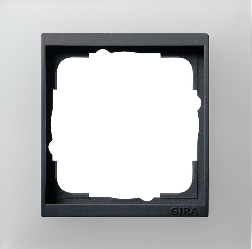 gira 021124 abdeckrahmen event opak wei 1fach online kaufen im voltus elektro shop. Black Bedroom Furniture Sets. Home Design Ideas