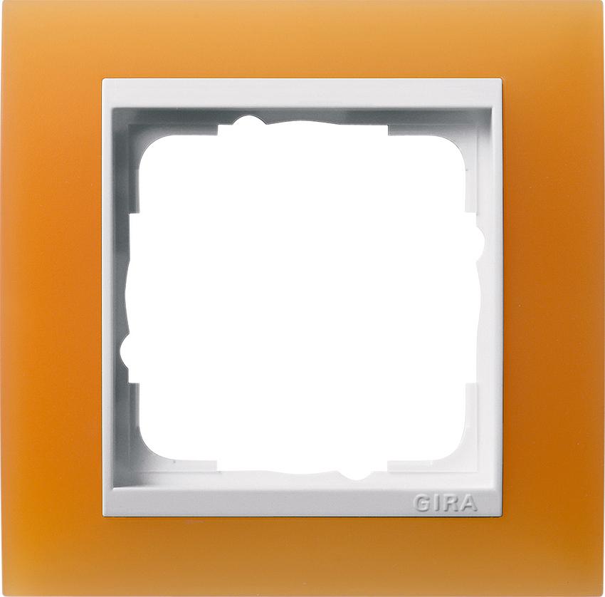 gira 0211397 abdeckrahmen event opak orange 1 fach online kaufen im voltus elektro shop. Black Bedroom Furniture Sets. Home Design Ideas