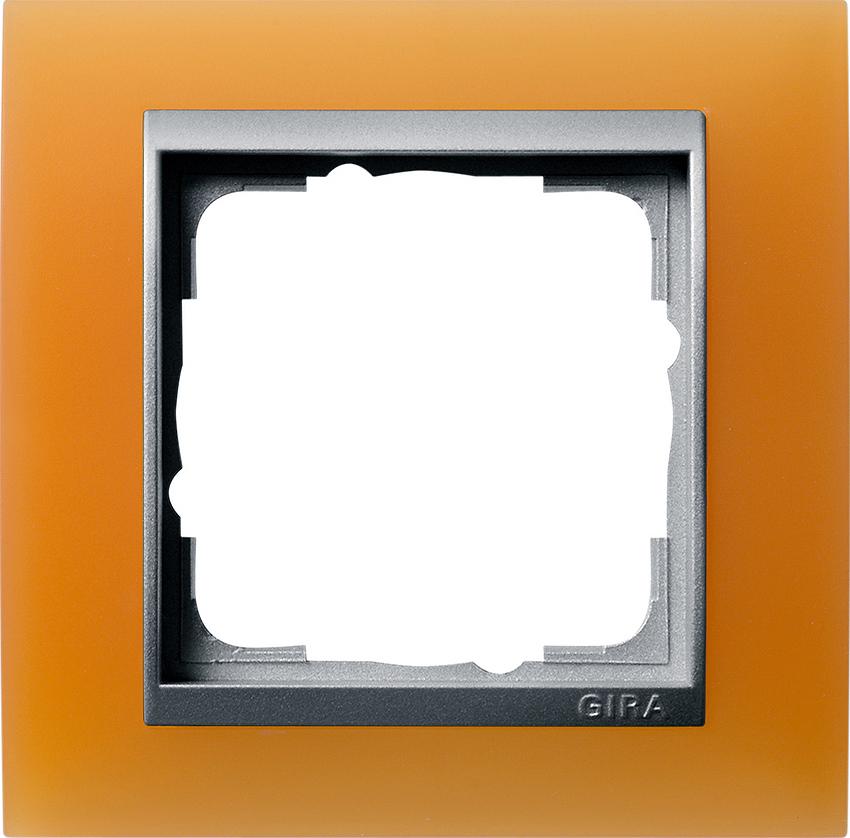 gira 021153 abdeckrahmen event opak orange 1fach online kaufen im voltus elektro shop. Black Bedroom Furniture Sets. Home Design Ideas