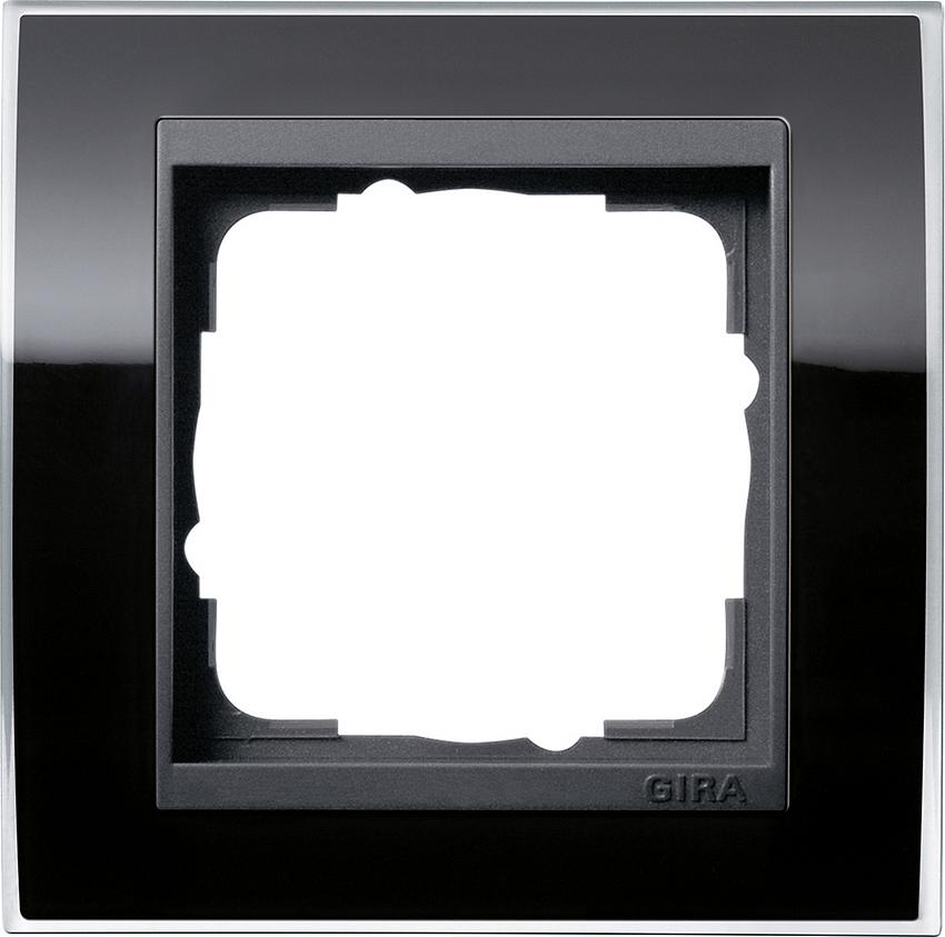 gira 0211738 abdeckrahmen event klar schwarz 1 fach online kaufen im voltus elektro shop. Black Bedroom Furniture Sets. Home Design Ideas