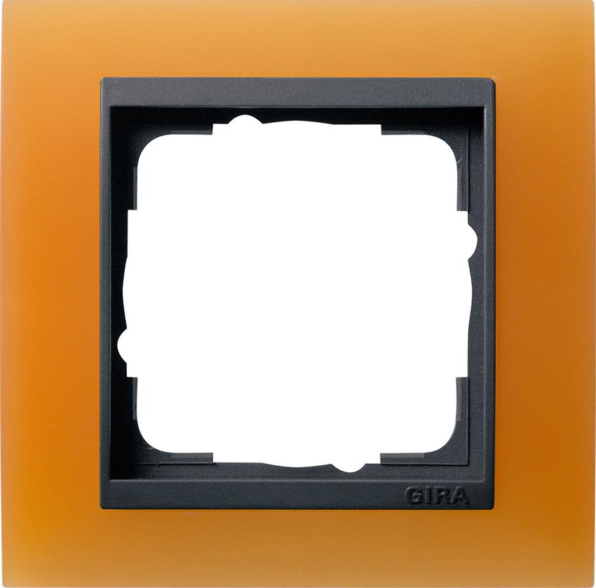 gira 021187 abdeckrahmen event opak orange 1fach online kaufen im voltus elektro shop. Black Bedroom Furniture Sets. Home Design Ideas
