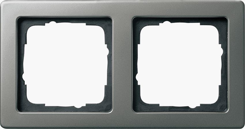 Großartig Gira 021221 Rahmen 2fach fuer Kombinationen. Edelstahl Serie 21  OC44