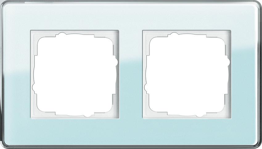 gira 0212518 esprit abdeckrahmen mint glas c 2 fach online. Black Bedroom Furniture Sets. Home Design Ideas