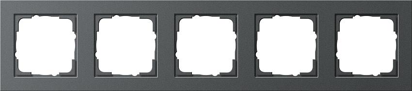 gira 021523 abdeckrahmen e2 anthrazit 5 fach online kaufen. Black Bedroom Furniture Sets. Home Design Ideas