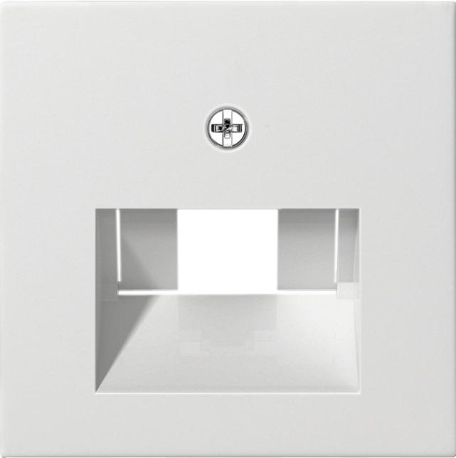 gira 027027 netzwerk anschlussdose abdeckung reinwei. Black Bedroom Furniture Sets. Home Design Ideas