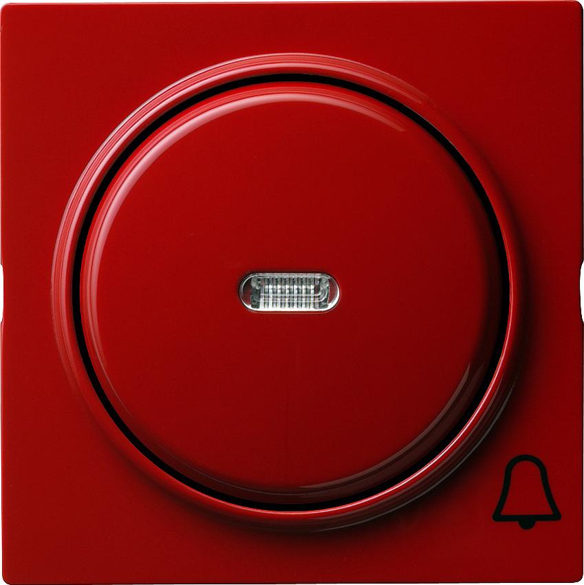 gira 028643 kontrollwippe mit symbol klingel rot online kaufen im voltus elektro shop. Black Bedroom Furniture Sets. Home Design Ideas