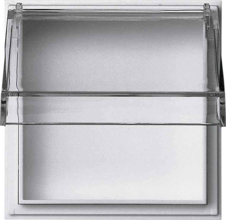 gira 040966 zwischenplatte mit transparentem klappdeckel reinwei online kaufen im voltus. Black Bedroom Furniture Sets. Home Design Ideas