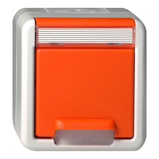 gira 044630 schuko steckdose 16a 250v mit orangem. Black Bedroom Furniture Sets. Home Design Ideas