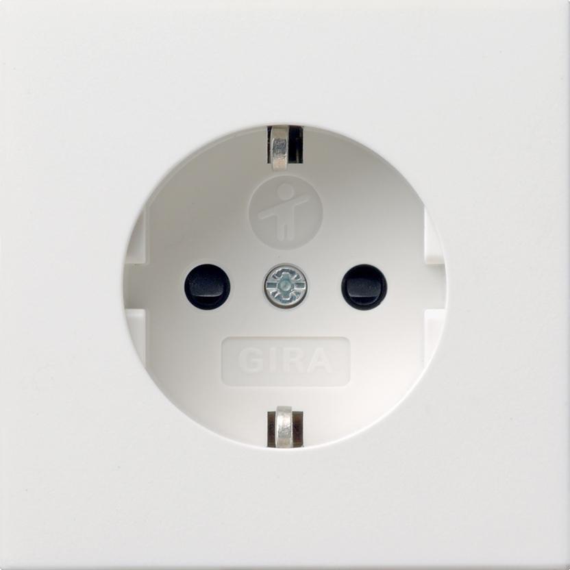 gira 0453112 schuko steckdose mit kinderschutz und symbol. Black Bedroom Furniture Sets. Home Design Ideas