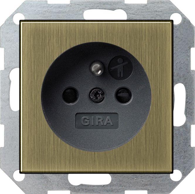 gira 0485603 steckdose mit erdungsstift bronze schwarz. Black Bedroom Furniture Sets. Home Design Ideas
