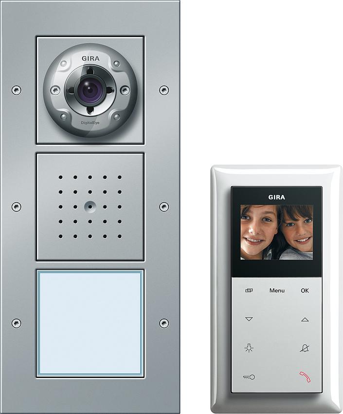 gira 049545 einfamilienhaus paket video online kaufen im voltus elektro shop. Black Bedroom Furniture Sets. Home Design Ideas