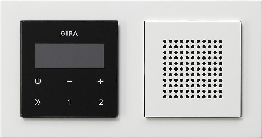 gira 049572 unterputz radio rds mit e2 rahmen e2 wei reinwei online kaufen im voltus elektro shop. Black Bedroom Furniture Sets. Home Design Ideas