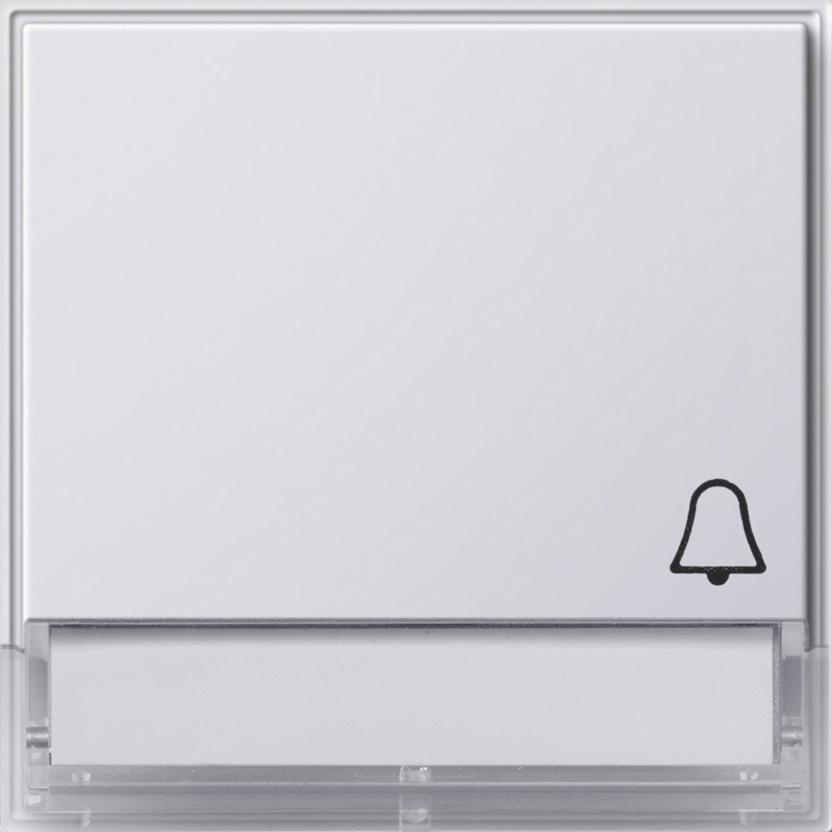 gira 067366 wippe mit symbol klingel und beschriftungsfeld reinwei online kaufen im voltus. Black Bedroom Furniture Sets. Home Design Ideas