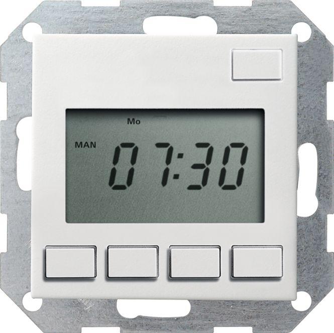 gira 117527 elektronische zeitschaltuhr easy 230 v 0 1000 w va reinwei seidenmatt online. Black Bedroom Furniture Sets. Home Design Ideas