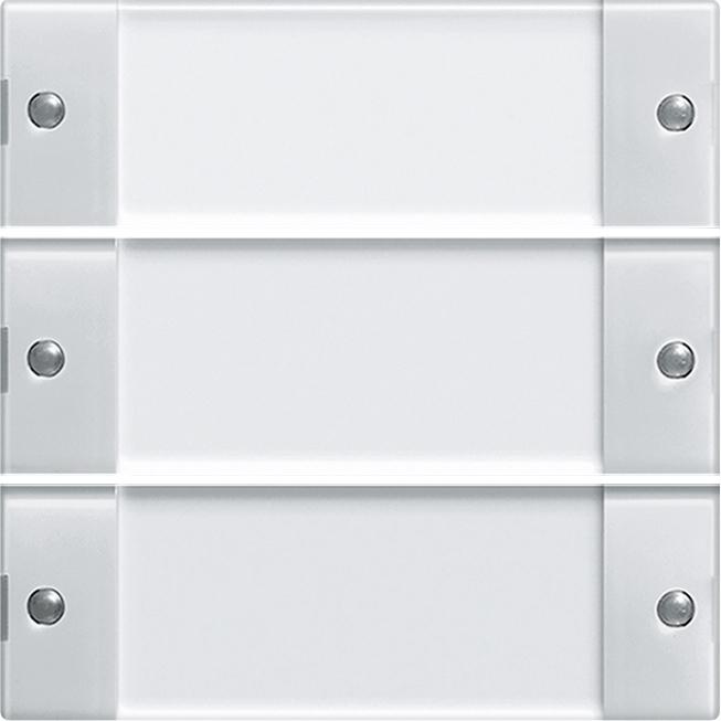 reinwei/ß Gira 214503 Wippenset 5-Fach Plus Beschriftungsfeld System 55 klar