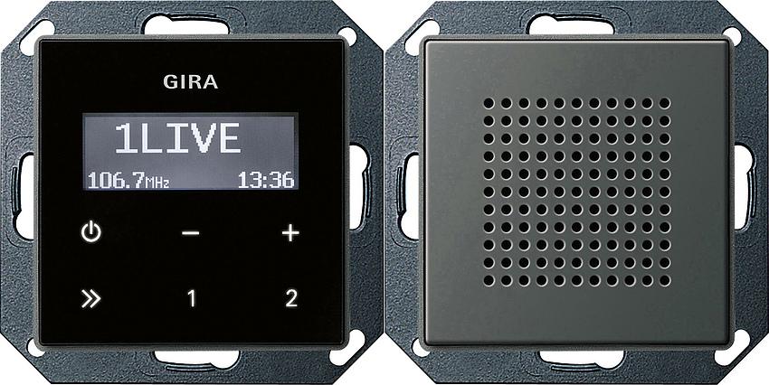 gira 228020 unterputz radio rds mit 1 lautsprecher online. Black Bedroom Furniture Sets. Home Design Ideas