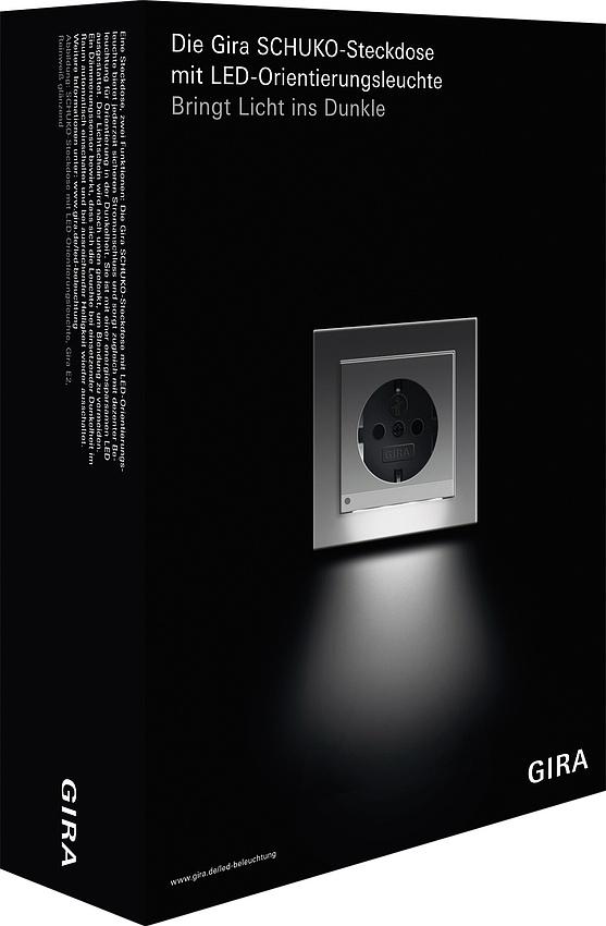 gira 2401100 verkaufspaket schuko steckdose mit led orientierungsleuchte online kaufen im voltus. Black Bedroom Furniture Sets. Home Design Ideas
