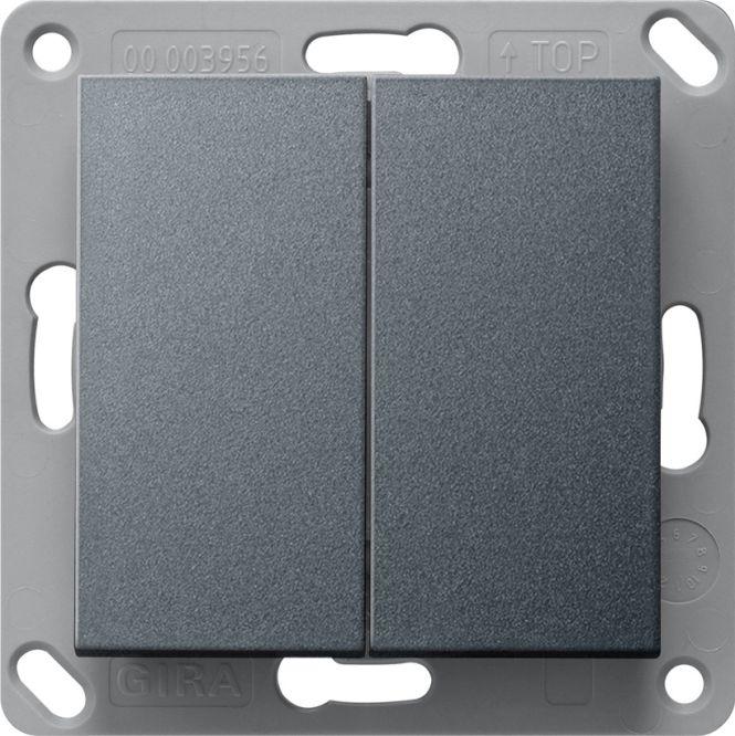 gira 242228 enocean funk wandsender 2 fach batterielos. Black Bedroom Furniture Sets. Home Design Ideas