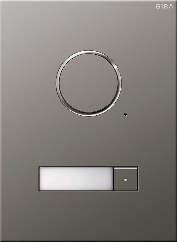 gira 250120 t rstation edelstahl audio unterputz 1fach 1 klingeltaste online kaufen im voltus. Black Bedroom Furniture Sets. Home Design Ideas