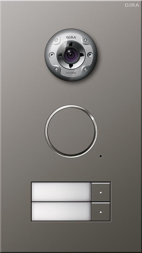 gira 255220 t rstation edelstahl video unterputz 2fach 2. Black Bedroom Furniture Sets. Home Design Ideas