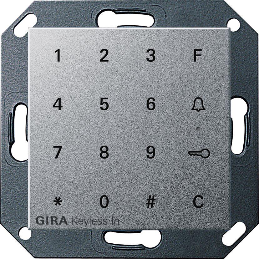 gira 260526 keyless in codetastatur alu online kaufen im. Black Bedroom Furniture Sets. Home Design Ideas