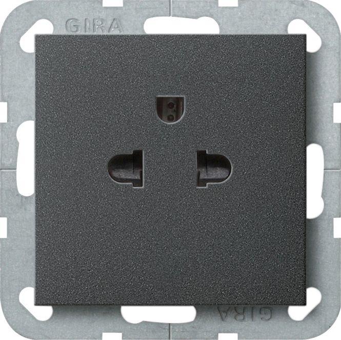 gira 284028 steckdose mit schutzkontakt euro us anthrazit. Black Bedroom Furniture Sets. Home Design Ideas