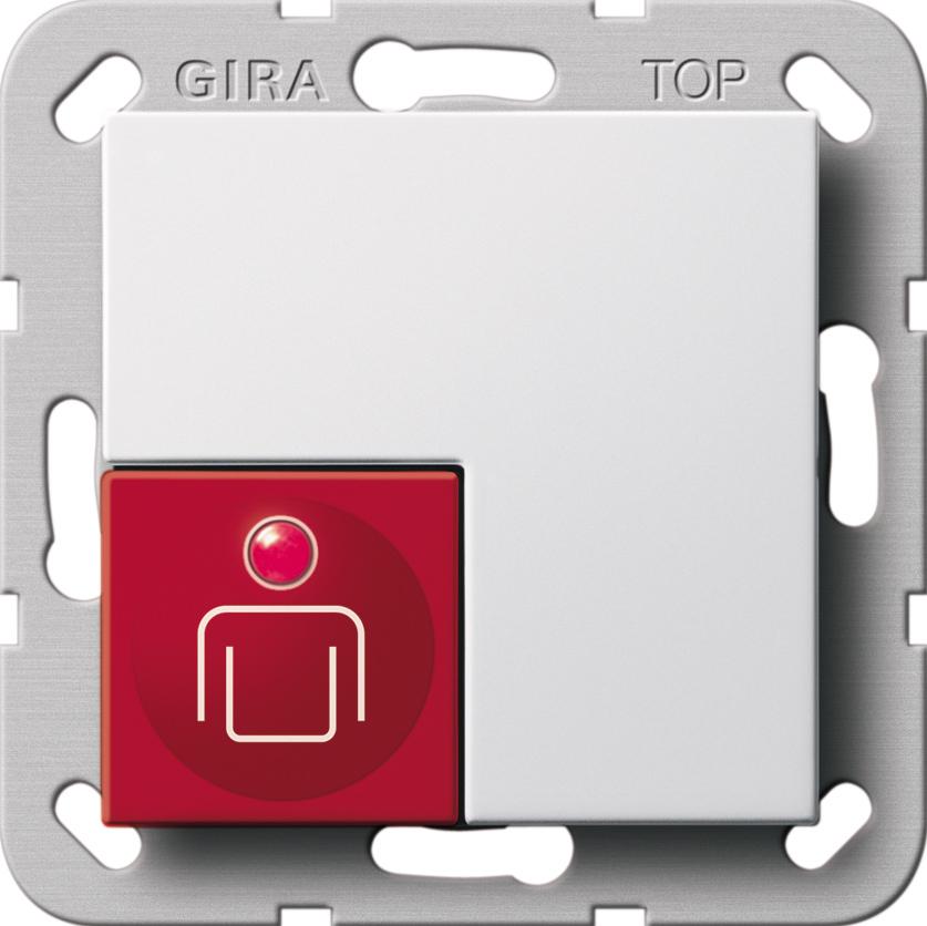 gira 290003 ruftaster system 55 reinwei reinwei gl nzend online kaufen im voltus elektro shop. Black Bedroom Furniture Sets. Home Design Ideas