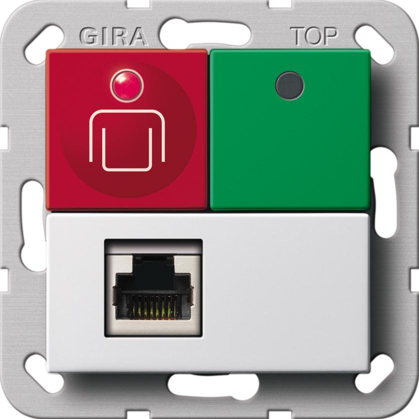 gira 290303 ruf abstelltaster nebensteckkontakt system 55 rei reinwei gl nzend online kaufen. Black Bedroom Furniture Sets. Home Design Ideas