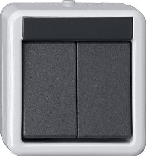 gira 516130 knx taster busankoppler ap wg 2 fach mit einpunktbedienung online kaufen im voltus. Black Bedroom Furniture Sets. Home Design Ideas