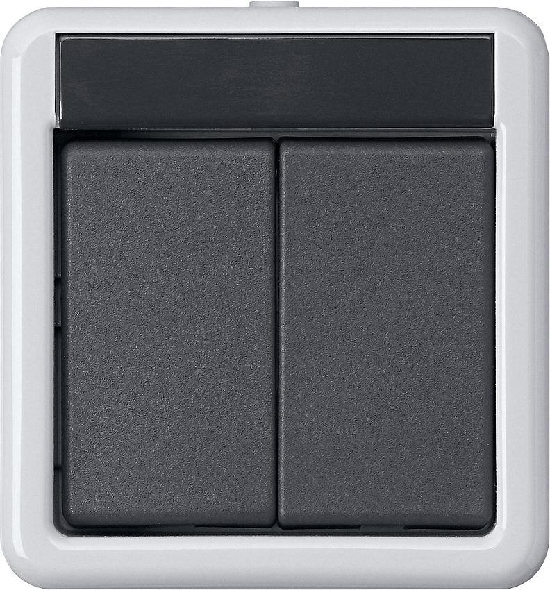 gira 516230 knx taster busankoppler ap wg 2 fach mit zweipunktbedienung online kaufen im voltus. Black Bedroom Furniture Sets. Home Design Ideas