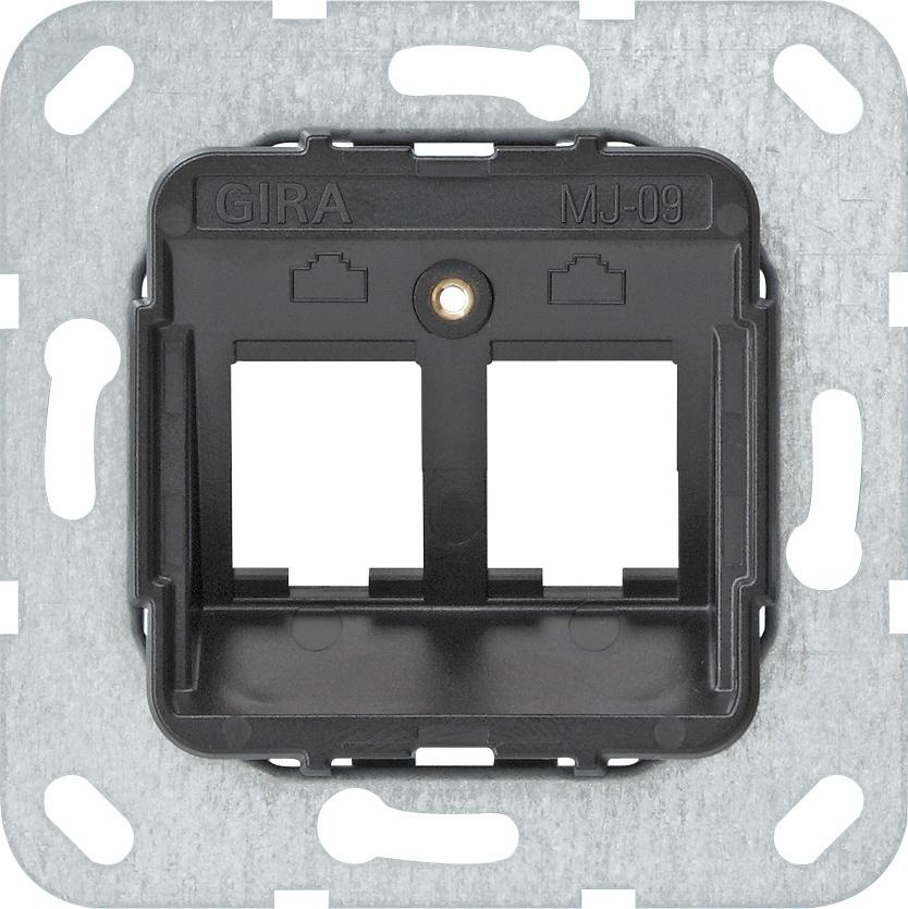 Gira 2fach 09 Modular 560900 Tragring Jack Mj 0kP8Own