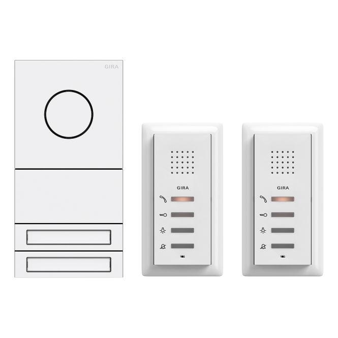gira 2407902 zweifamilienhaus paket audio system 106 t rstation verkehrswei lackiert online. Black Bedroom Furniture Sets. Home Design Ideas