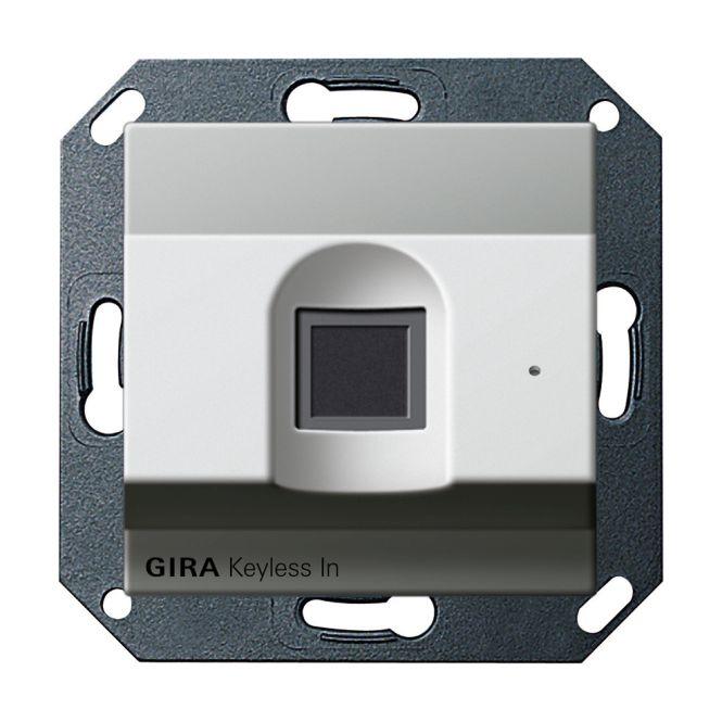 gira 2617600 keyless in fingerprint leseeinheit edelstahl. Black Bedroom Furniture Sets. Home Design Ideas