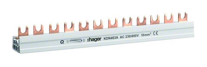 Hager KDN463B 4polig Phasenschiene