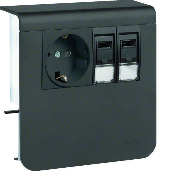 tehalit sl200809209011 ger tetr ger mit steckdose schuko. Black Bedroom Furniture Sets. Home Design Ideas